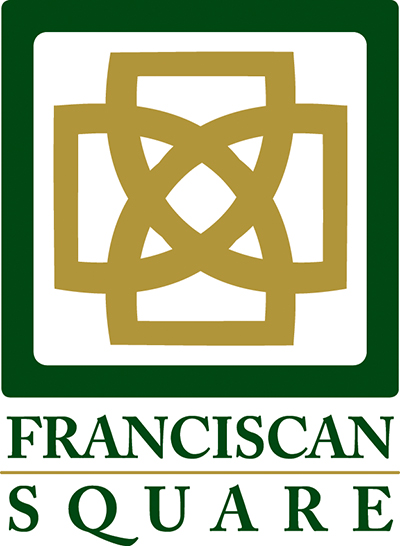 Vertical Version of Franciscan Square Logo